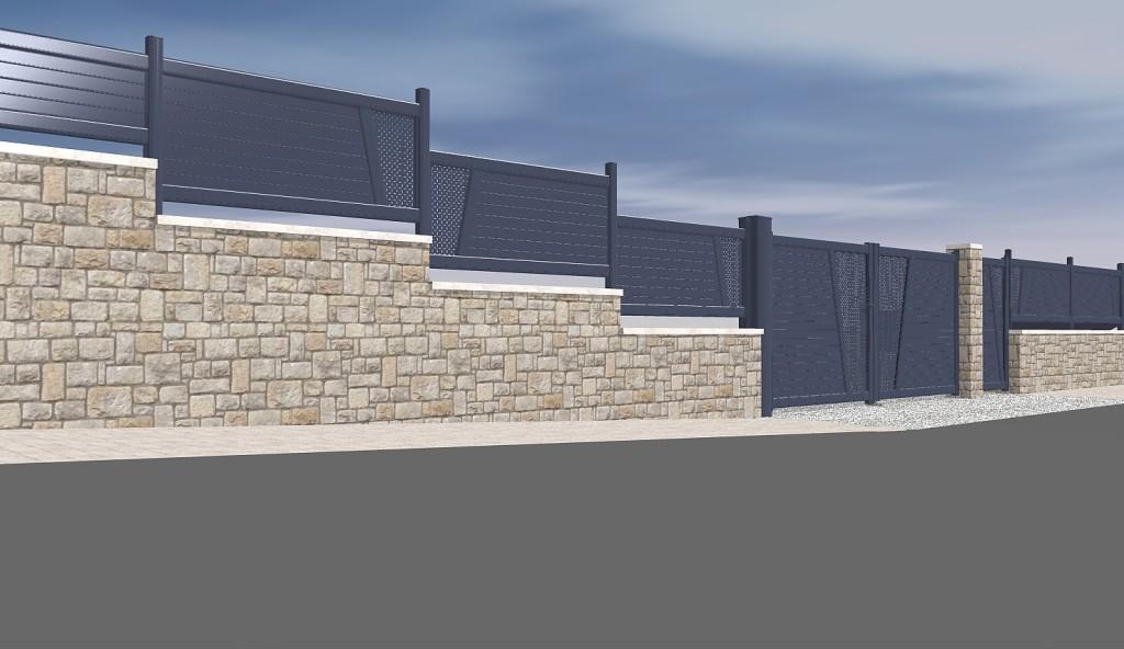 Logiciel pour portail portillon et cl tures cover for Exemple de cloture de maison