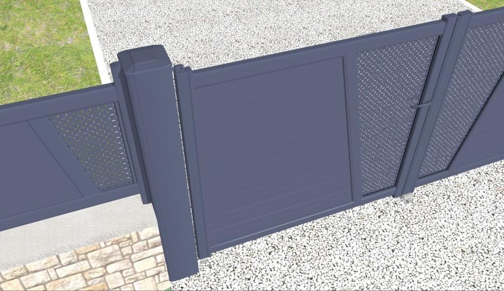 Logiciel pour portail portillon et cl tures cover for Portail portillon cloture